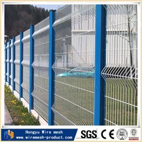 HongYu sheet metal fence panel green vinyl coated welded wire mesh fence made in China
