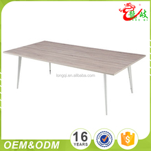 Factory new product wood grain color modern simple meeting table with metal legs M1553