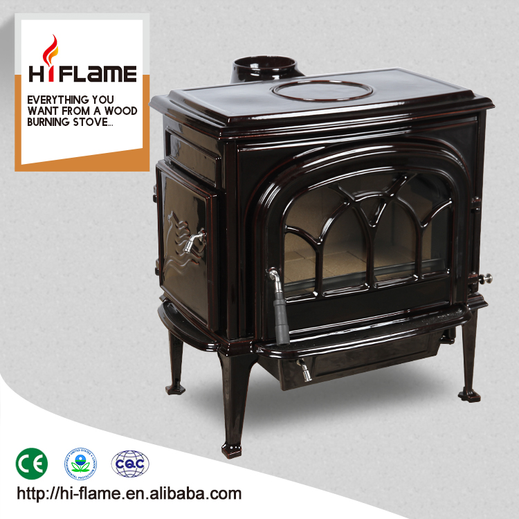 HiFlame 18kw output 2,200 Sq.Ft Big Size Indoor Freestanding Enamel wood burning stove for Home heating HF737UE