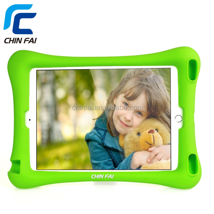 Shock proof kid safe silicone 7 inch protective tablet case for ipad air 2 bumper case with vertical stand