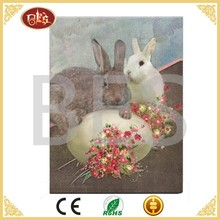 picture of cartoon wall decoration , cartoon rabbit led wall picture