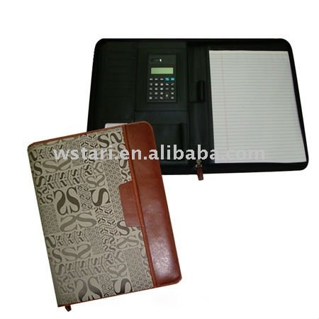 A4 black magnetic writing case portfolio portable office pack