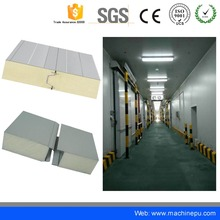 Polyurethane foam sandwich panel cold room panel with cam lock