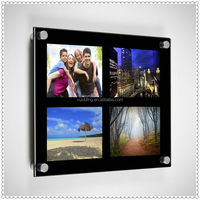 Acrylic Black Multi Window Photo Frame For Wall Decoration