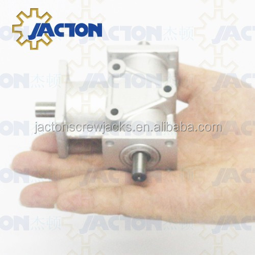 High Precision Light Weight JTA15 Aluminum Small Miniature Right Angle Gearbox 1:1 Ratio