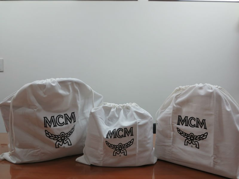 Cotton dust bag with drawstring and printed logo