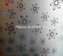 purple spray paint art glass, heat absorbing paint glass, balcony sliding glass door
