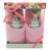 wholesale fashionable cosy home and bath shower cotton slipper sets women