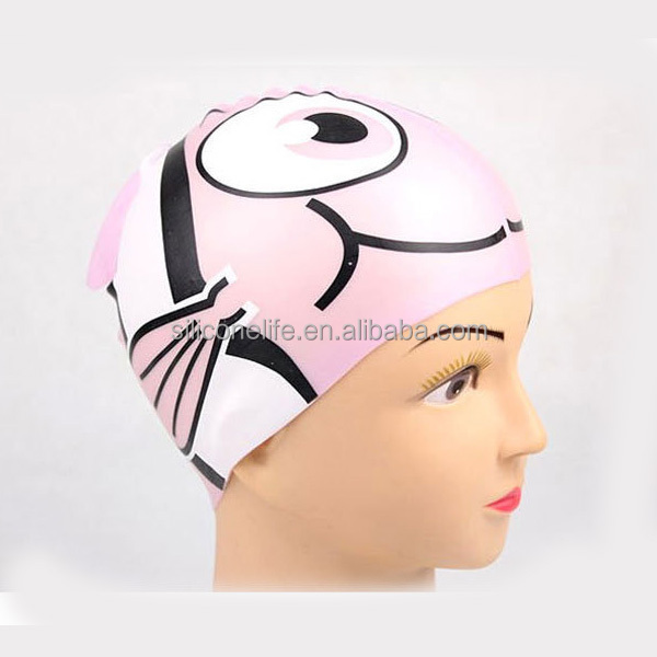 Comfortable Wear Baby Girl Swim Cap