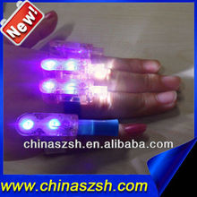 Newest light up PS material white led finger lights for all party
