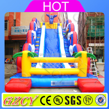 2017 commercial inflatable dragon monster slide for kids and adults