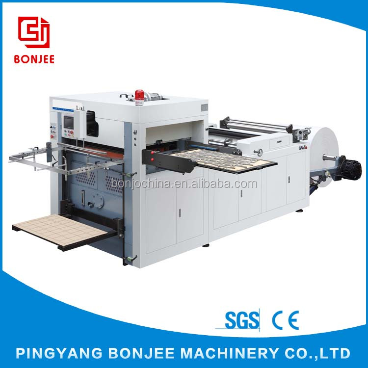 Bonjee Wholesale Price Supply 380V 50HZ Paper Roll Die Cutting Machine