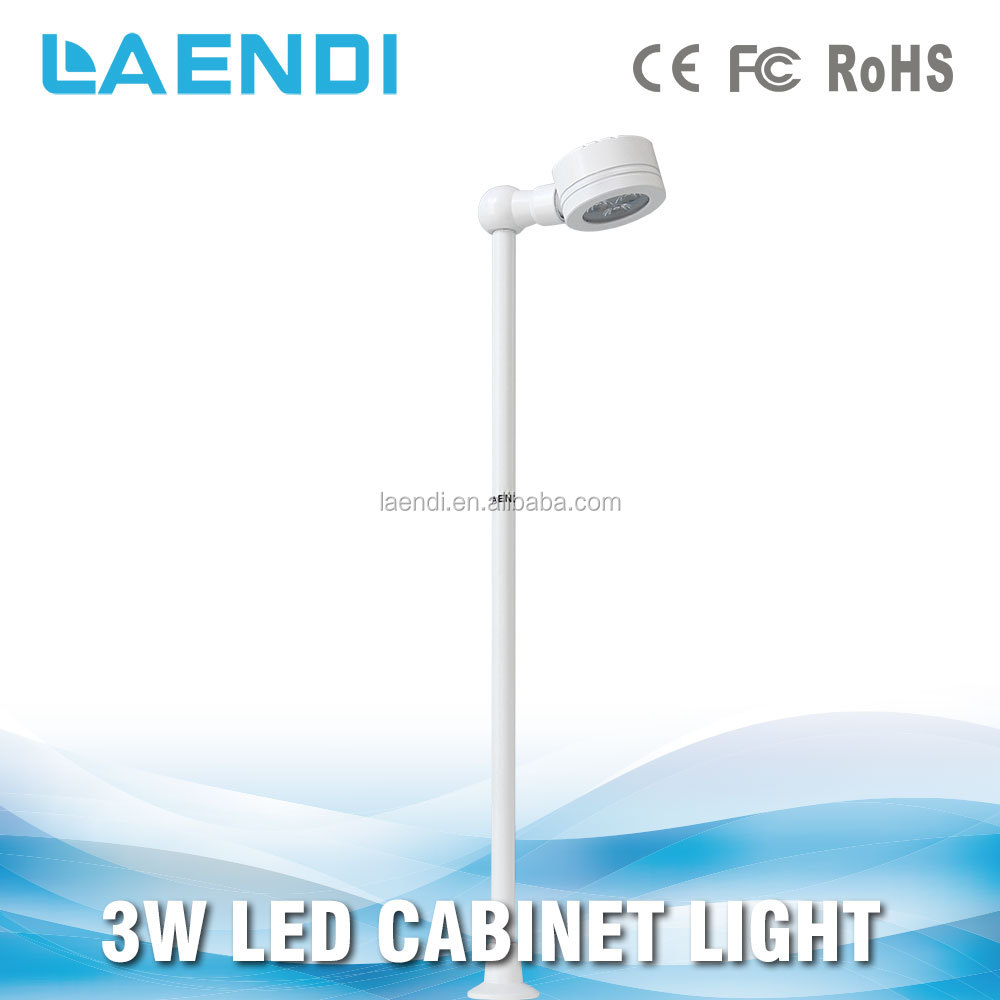 Head adjustable 3W cylinder pole stand LED jewelry light
