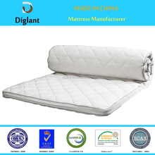 soft roll up queen size cotton filled natural latex spring mattress