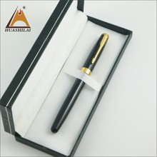 No leakage cartidge changeable metal fountain pen with logo on metal tip