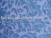 Blue Plush Textile For Sofa Cover