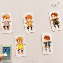 Customized mobile phone screen cleaner stickers cute gift cleaner