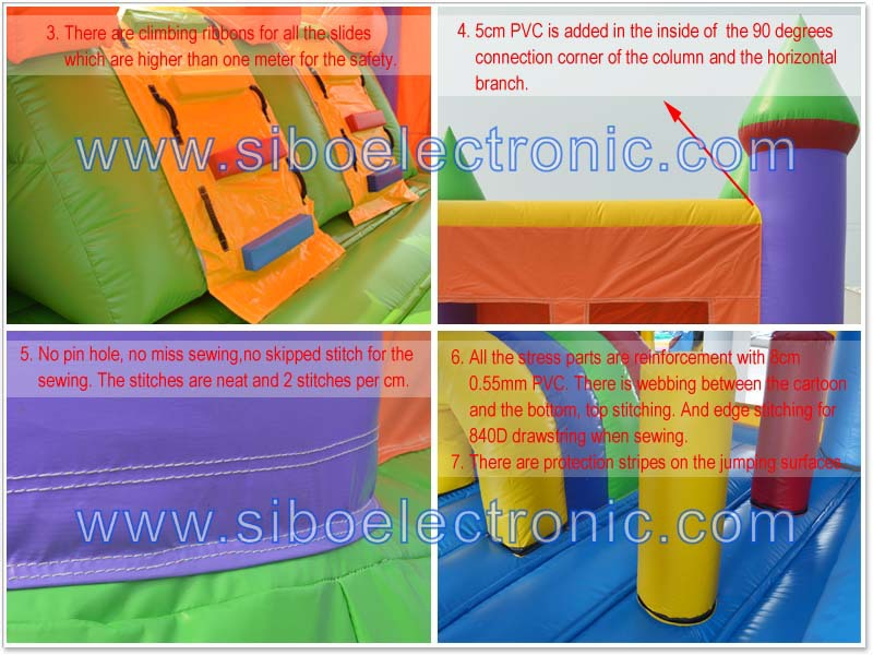 16022401outdoor inflatable slide party giant with pool for kids in park for hire rental