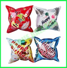 Customized square shape auto inflatable foil balloon