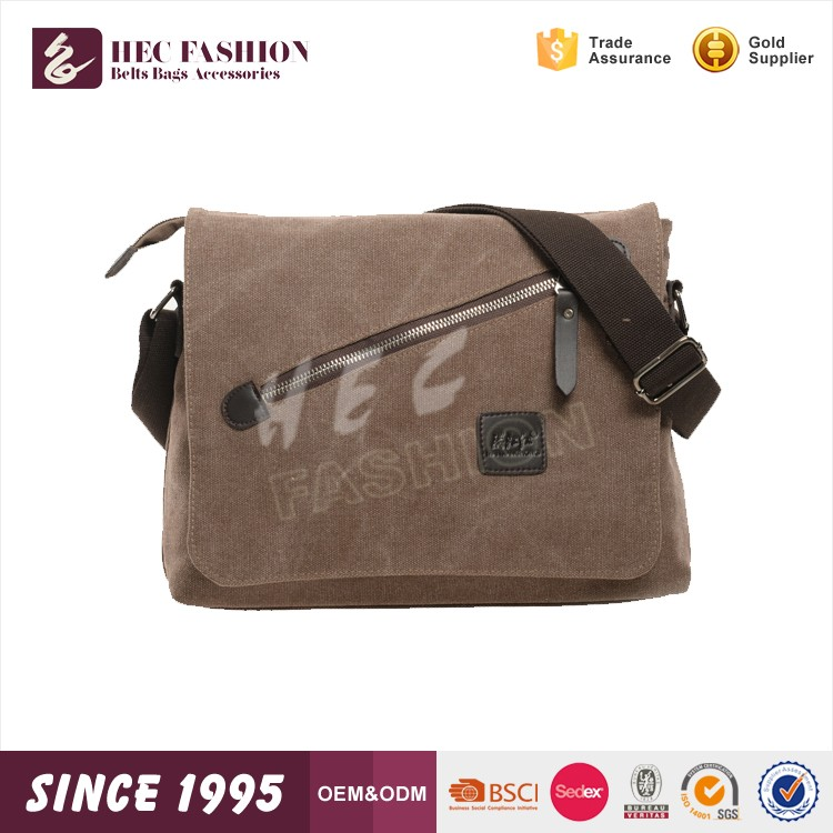 HEC Wenzhou Good Quality Custom Logo Printed Canvas Duffle Shoulder Bag With Zipper Pocket