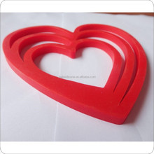 FDA silicone mats /hot pot holder/heat-proof heart shape silicone pads