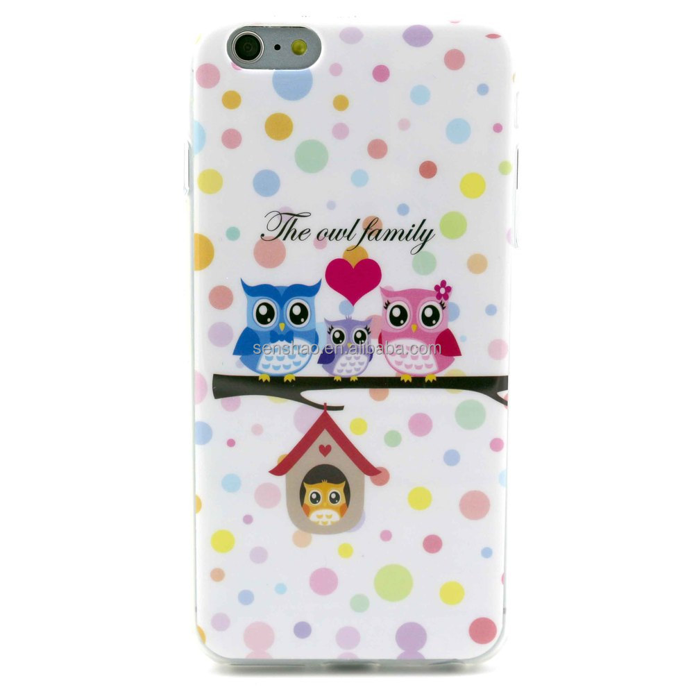 Soft IMD craft owl phone case cover for iphone 5 6 6s plus