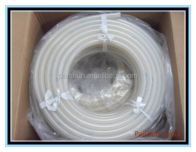Sanitary Food Grade Textile Braid Platinum Cured Silicone Hose