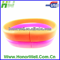 Cheap Customized Logo Colorful Thin bracelet Silicon USB Flash Drive