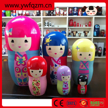 Wooden diy toy nesting doll nesting doll gift and craft