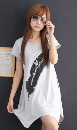 !!LATEST DESIGN!! *Made in Korea* Feather Dress Top