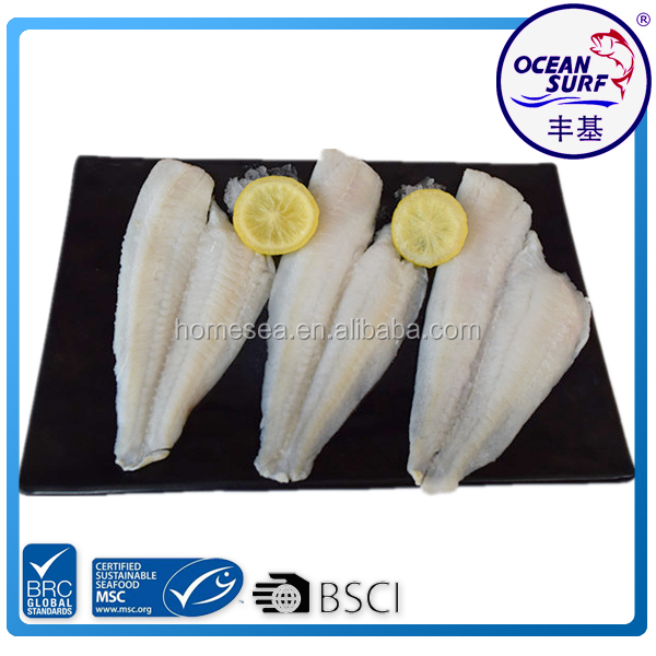 Frozen Seafood Yellow Fin Sole Fish Fillets