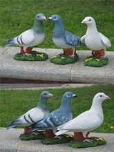 garden landscaping color resin pigeon ornaments