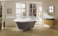 classical mosaic bathtub,acrylic freestanding tub with clawfoot