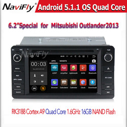 6.2 inch Capacitive Screen Quad Core Android 5.1.1Car dvd Player For Mitsubishi Outlander 2013 2014 with wifi GPS BT