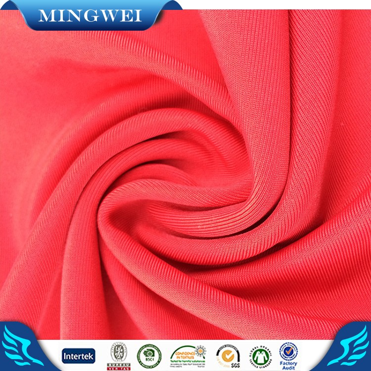 elastic waterproof combed yarn spandex t shirt fabric jersey fabric