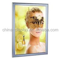 LED super slim snap fit display frame aluminum a1 led snap frame