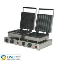 Electric industrial hot cake maker square and cylinder food making machine