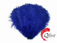 Best quality plume crafts wholesale bulk dyed royal blue ostrich feathers
