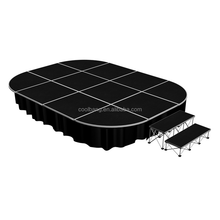 folding aluminum mobile portable round outdoor stage