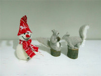 wool felt NEW fashion lovely christmas gift snowman spuirral reindeer christmas gift