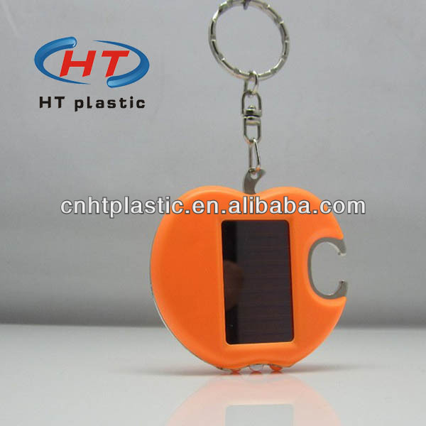 HTW205 solar power flashing lcd keychain