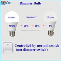Binge elec E27 6W LED dimmer bulb,led dimmable bulb, can use for any kind of switch