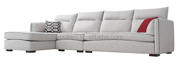 Amazing sofa bed!space saving furniture,multi-function bonded leather 3 seat sofa with chaise