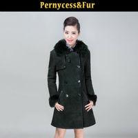 2014 new sheep skin leather Sheepskin coats long sections fur