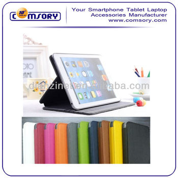 3 stand gear PU Leather Case for iPad Mini accept Paypal