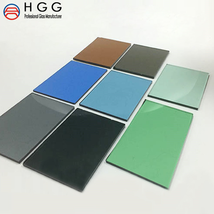 High quality silver / blue / green / brown grey 5mm 6mm 8mm tempered reflective glass