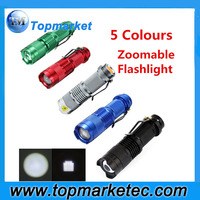 Colorful Aluminum Flashlight Mini LED Flash Light LED AAA Pocket LED Flashlight 9 LED Torch