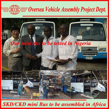 assemble the 5.9-7.1m Diesel/CNG china minibus in local for Nigerian public transport