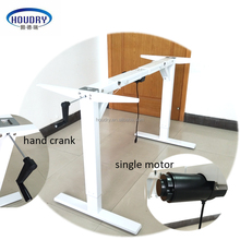 foldable Electric Height Adjustable Sit and Stand Office Desk with single motor