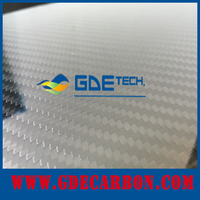 GDE China Factory Directly Sale Glossy Twill Surface 3K high pressure laminated sheet